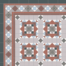 Decorative Victorian encaustic tile design - Calton