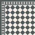 Edwardian Black and White Path Tiles