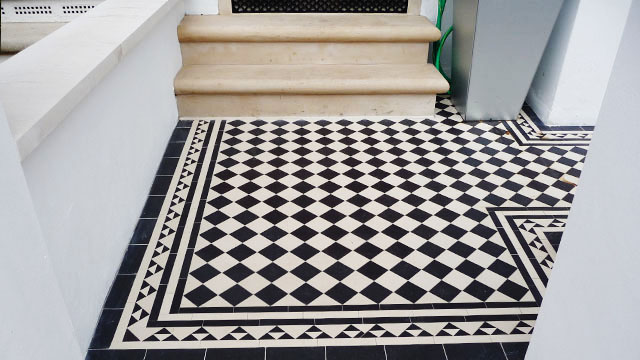 Victorian Floor Tiles On Sheets Geometric