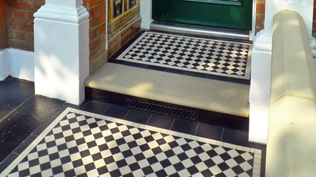 Gallery of tile installations photos of victorian floor for Edwardian tiles for porch