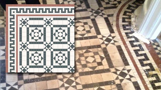 Period floor tiles