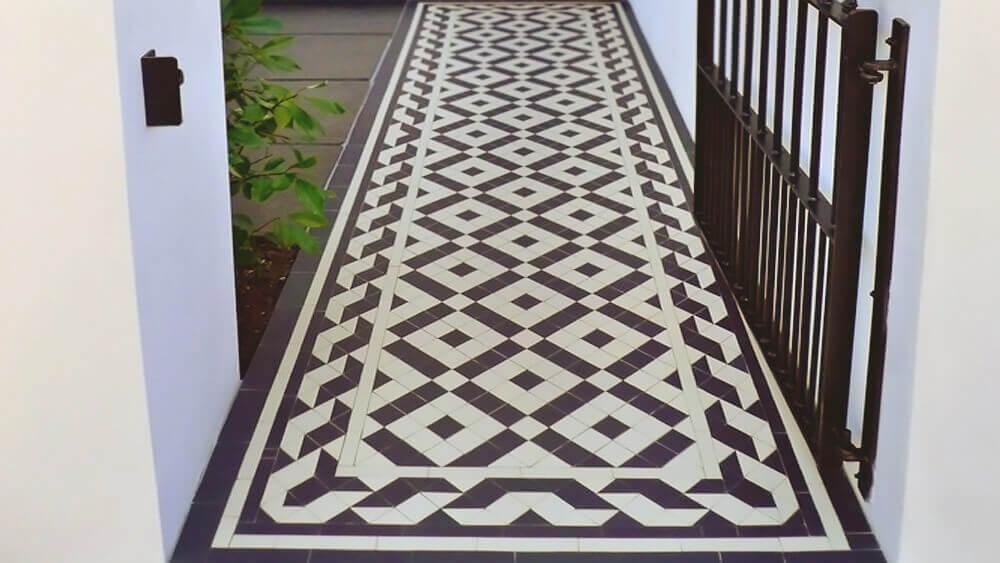 Victorian ceramic path tiles