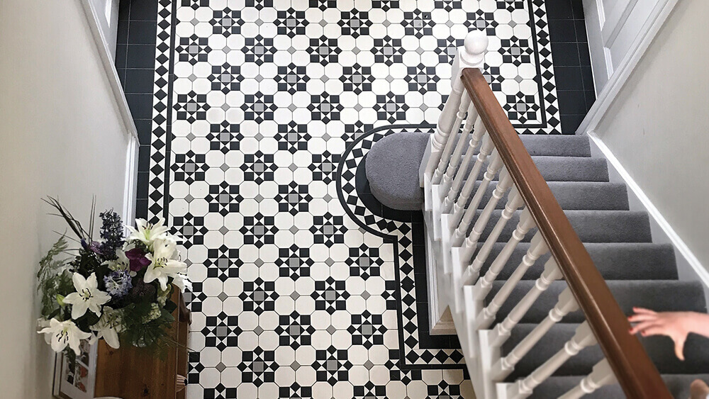 London Mosaic Victorian Floor Tiles Sheeted Ceramic Tile