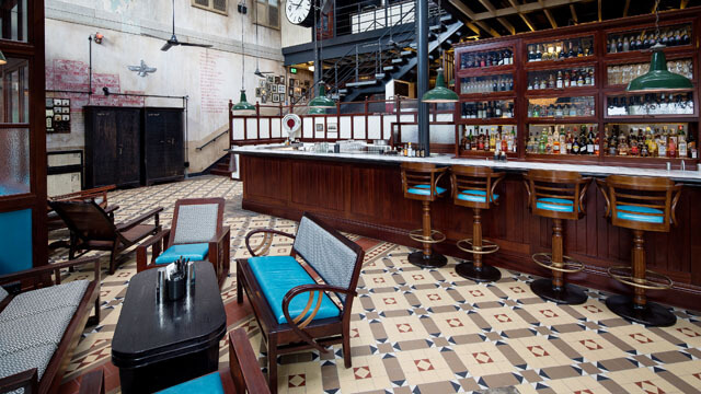 Restaurant - Victorian style floor tiles designed and supplied bespoke sheeted for the new Dishoom in Kings Cross.