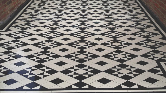 Gallery of tile installations photos of victorian floor tiles geometric ceramic path tiles ppazfo
