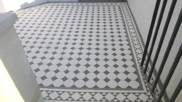 Octagon And Dot Ceramic Tiles