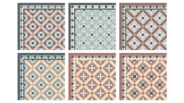 Reproduction Victorian Hall Floor Tile Design 1