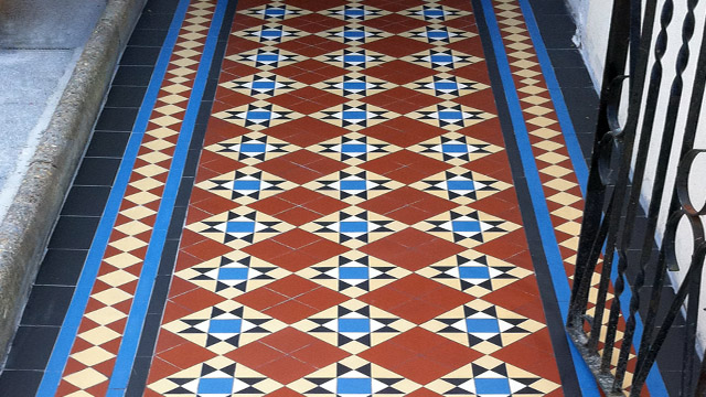 Reproduction Victorian Path Tiles 2