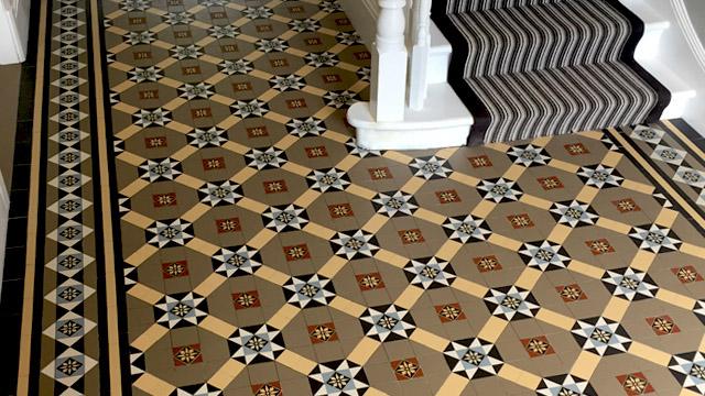 Victorian Encaustic Hall Floor Tiles