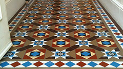Encaustic tiles are traditionally created using different colours of ceramic clay, with the pattern inlaid.