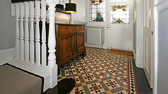 Victorian Hallway Tiles - A traditional Victorian pattern supplied bespoke sheeted for this house renovation.