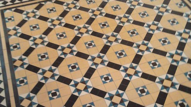 Victorian floor tiles restoration