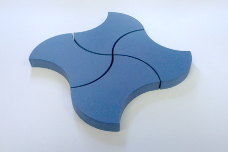tessellating curved shape ceramic tiles