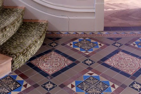 Victorian encaustic hall floor