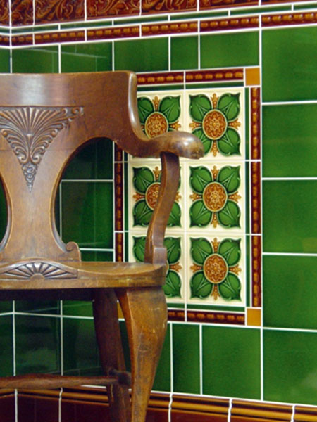 Victorian style glazed ceramic wall tiles