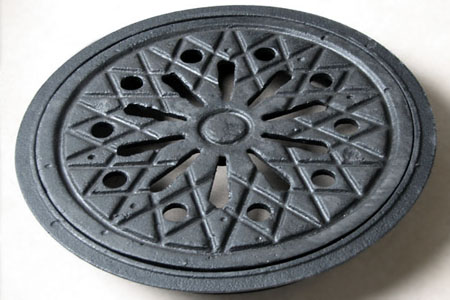 Coal hole cover plate and frame