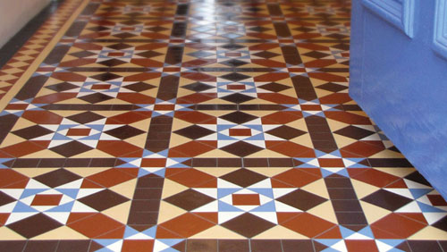 London Mosaic Victorian Floor Tiles Sheeted Ceramic