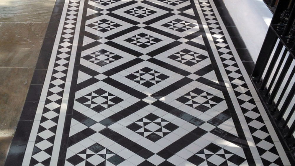 Victorian Black and White path tiles