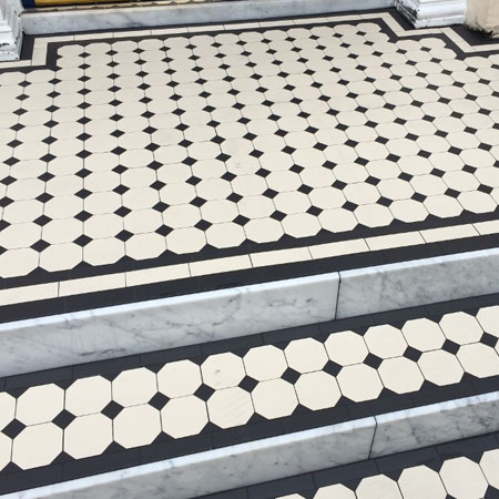 Georgian entrance tiles
