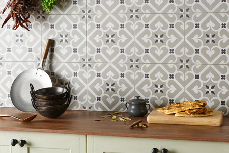 Robust porcelain tiles printed in range of patterns