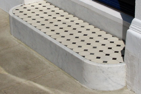 Marble and Granite step riser and bullnose tread