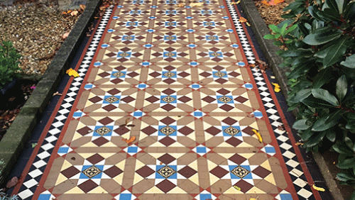 A beautiful and accurate Victorian tile installation