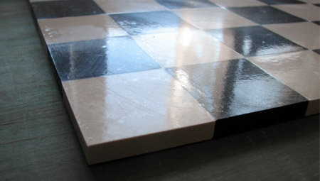 Black and White Victorian Floor Tiles on Sheets