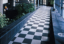 Architectural tiles - large porcelain tiles ideal for garden landscaping or home extensions.