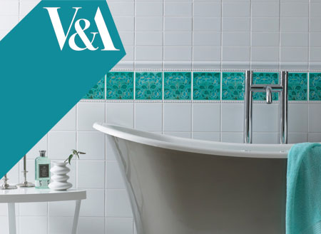 Glazed ceramic bathroom wall tiles