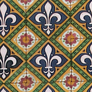 Multicolour Salvaged Victorian Encaustic Tiles