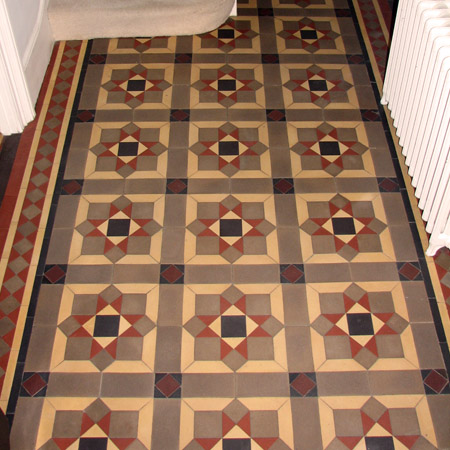 Georgian hall floor tiles