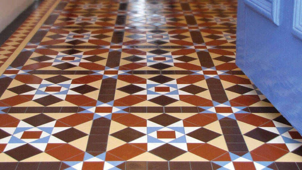 Reproduction Victorian hall floor tiles