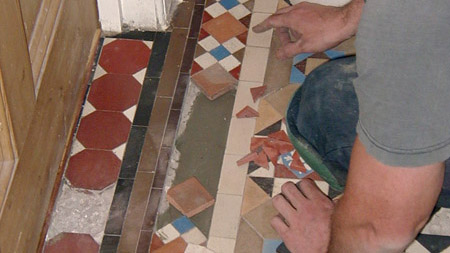 Victorian tile estoration work in progress